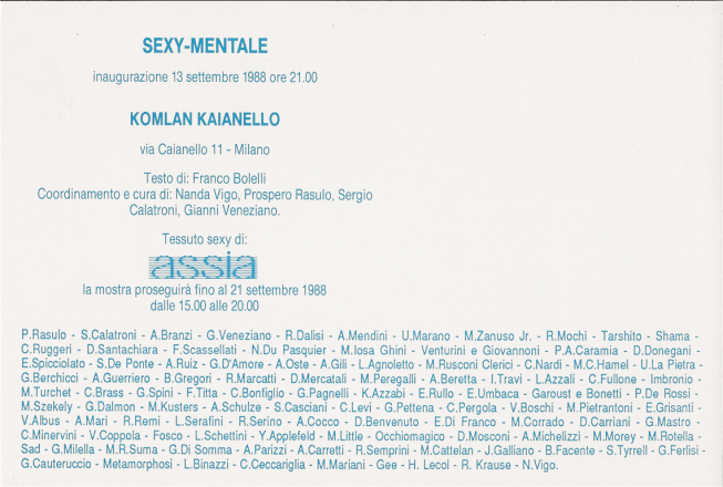 SEXI-MENTALE_exhibition_GianniVeneziano_1988_VenezianTeam