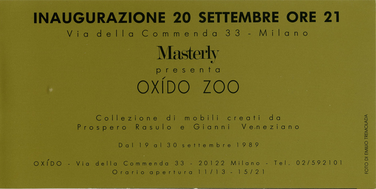 SPAZIO OXIDO_exhibition_GianniVeneziano_1988_VenezianTeam_1