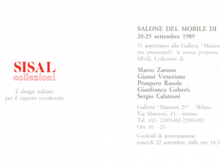 Il design per il tappeto italiano