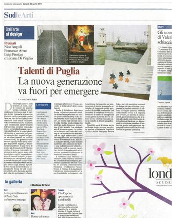 Corriere-della-sera-Gianni-veneziano-luciana-di-virgilio-premiazione-raymond-loewy-foundation