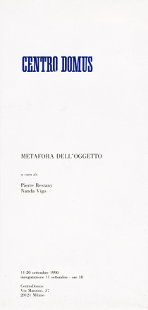 METAFORA DELL'OGGETTO_exhibition_GianniVeneziano_1990_VenezianTeam