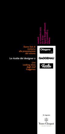 Le Ricette dei designer 2 - Ottagono - Gianni Veneziano - Luciana Di Virgilio -Veneziano+Team
