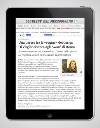 2011.03.29 Corriere del Mezzogiorno