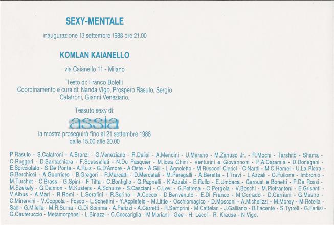 SEXI-MENTALE_exhibition_GianniVeneziano_1988_VenezianTeam