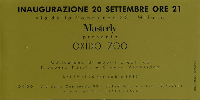 SPAZIO OXIDO_exhibition_GianniVeneziano_1988_VenezianTeam_1