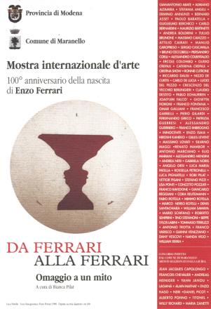 DA FERRARI ALLA FERRARI_exhibition_GianniVeneziano_1998_VenezianTeam