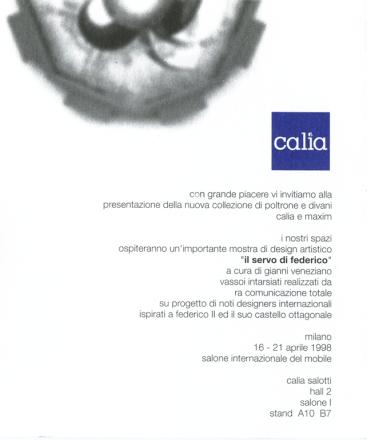 IL SERVO DI FEDERICO_exhibition_GianniVeneziano_1998_VenezianTeam_6