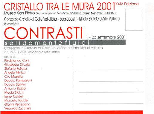 CONTRASTI_exhibition_GianniVeneziano_2001_VenezianTeam_