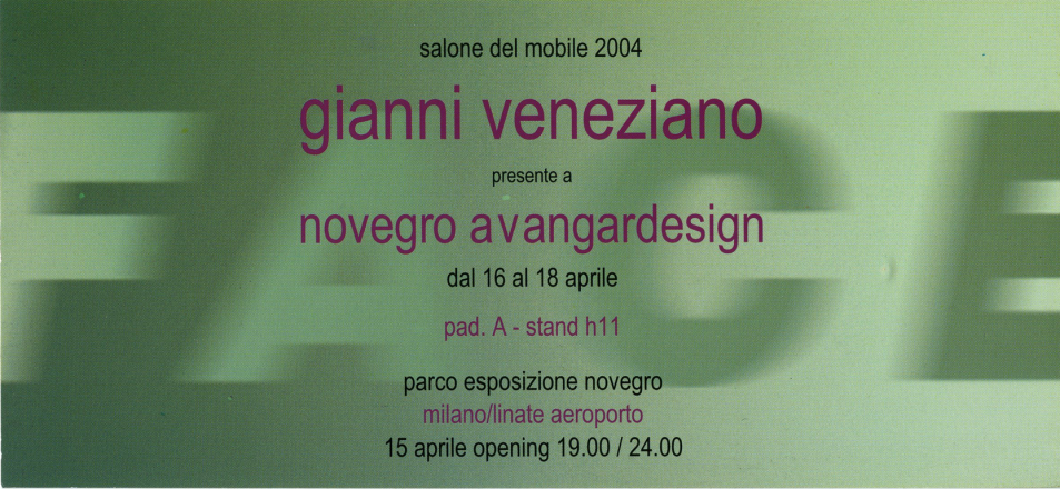 FACE_exhibition_GianniVeneziano_2004_VenezianTeam_1