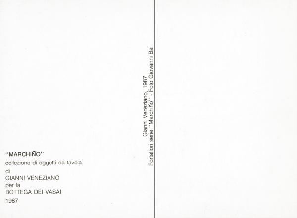 COLLEZIONE MARCHINO_exhibition_GianniVeneziano_1987_VenezianTeam_1