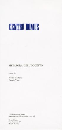 METAFORA DELL'OGGETTO_exhibition_GianniVeneziano_1990_VenezianTeam